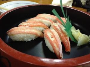 Hokkaido Crab sushi