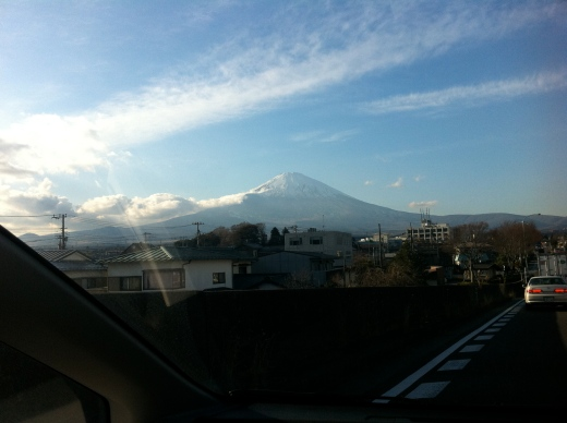 Mt. Fuji and Sun from border