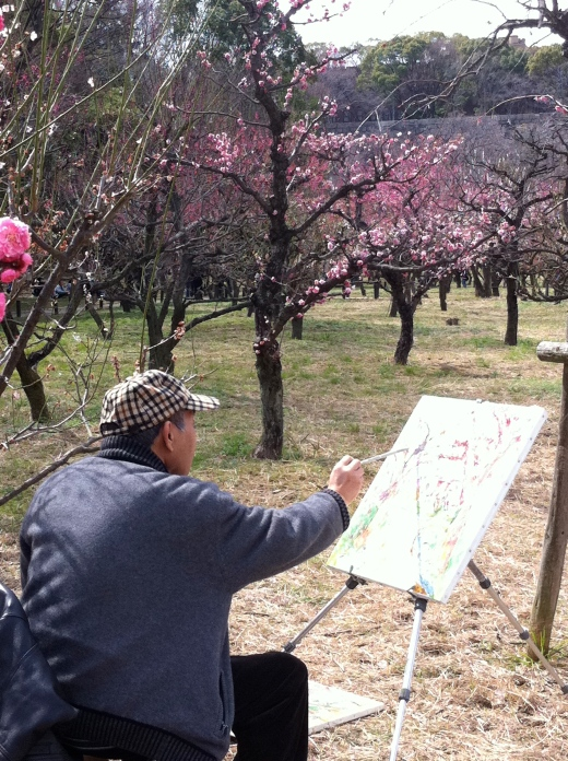 plum blossoms painter